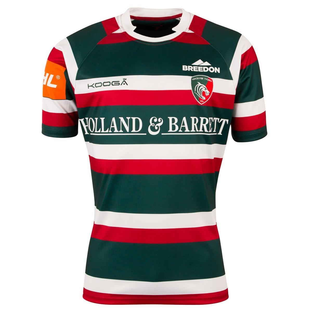 Kooga Leicester Tigers Home Replica Rugby Shirt 2016/17