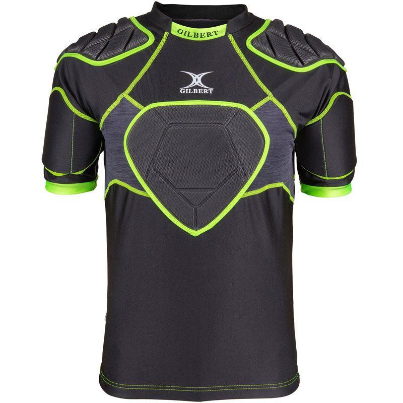 Gilbert XP 500 Junior Body Armour Black/Volt 2019