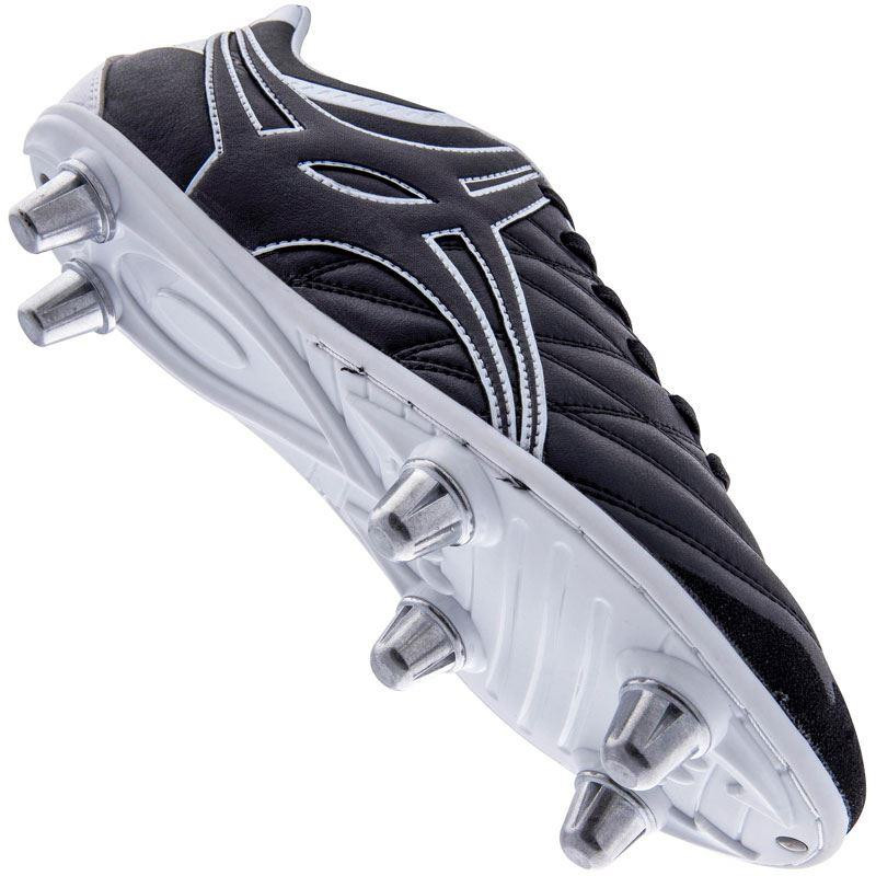 Gilbert Side Step X9 LO 6S Junior Rugby Boot Black/White 2019