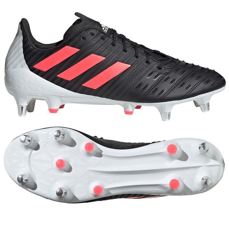 Adidas Predator Malice Control Soft Ground Rugby Boots 2020 Black/Pink/White