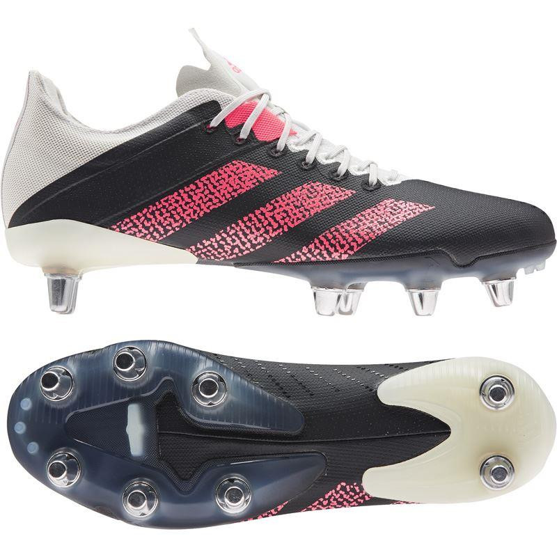 Adidas Kakari Z.0 Soft Ground Rugby Boots 2020 Black/Pink/White