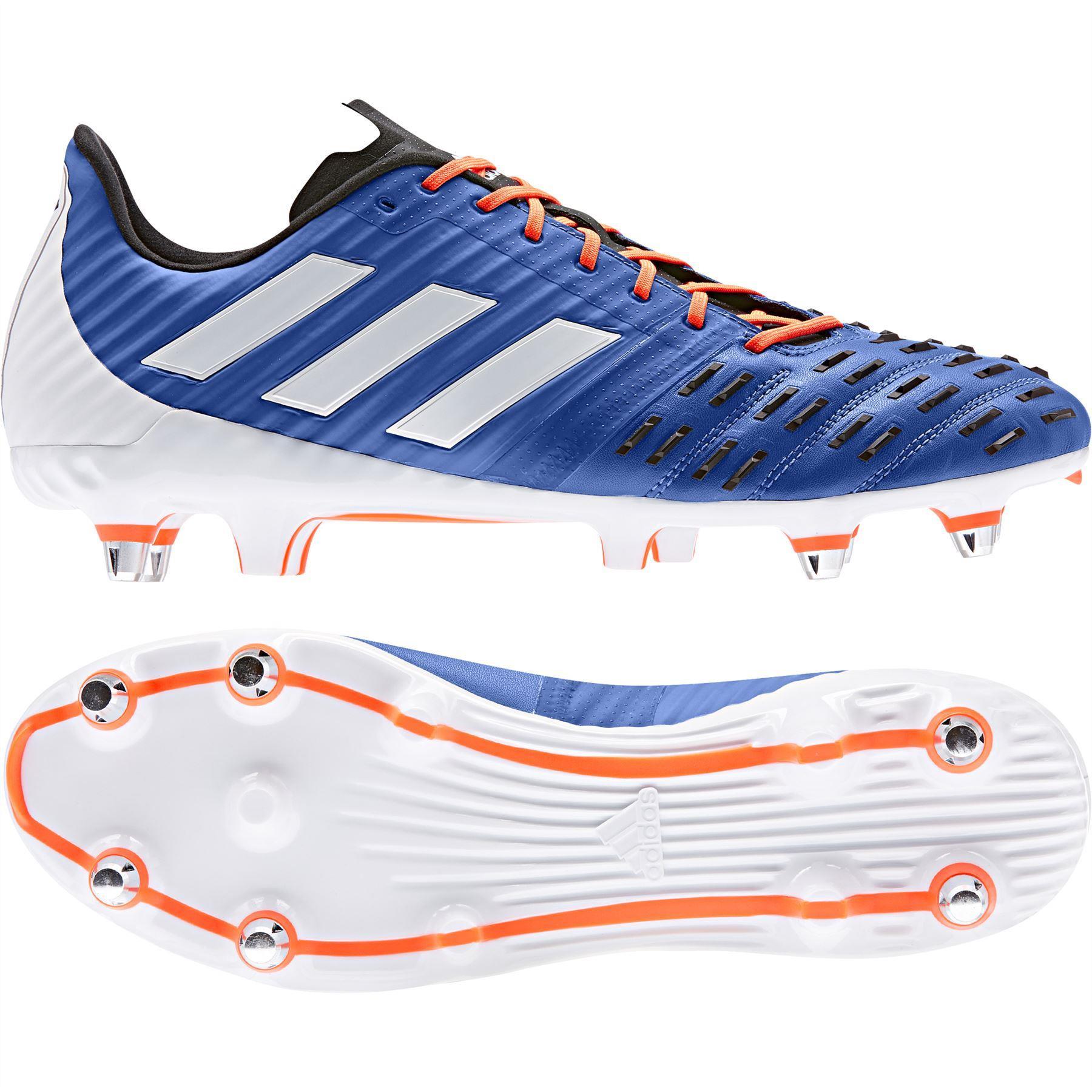Adidas Predator Malice Control SG Rugby Boots Blue/White/Solar Orange 2019