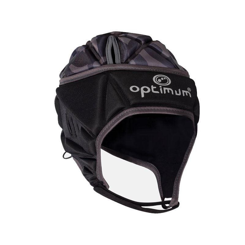 Optimum Senior Razor Headguard Black/Silver 2019