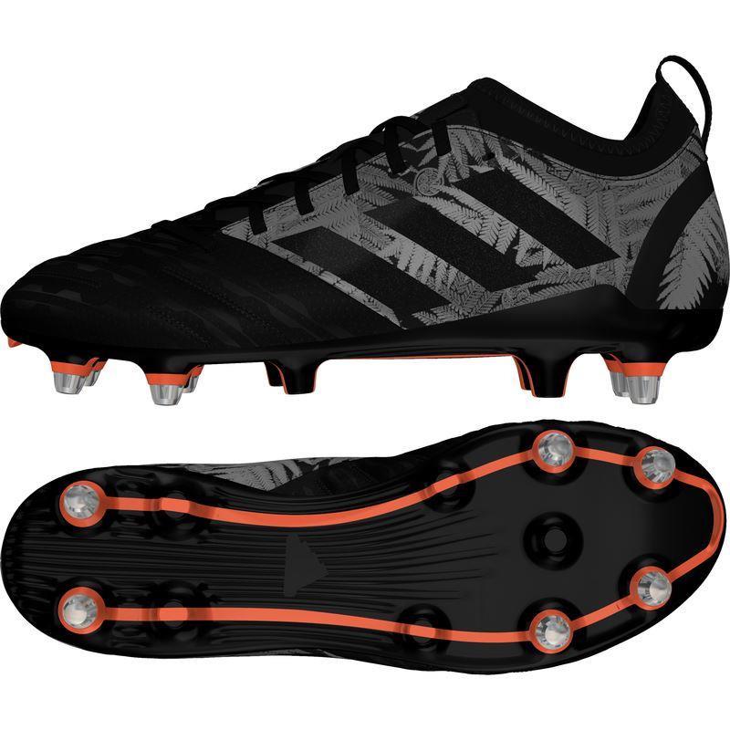 Adidas Malice Elite SG Rugby Boots Black/Solar Orange 2019