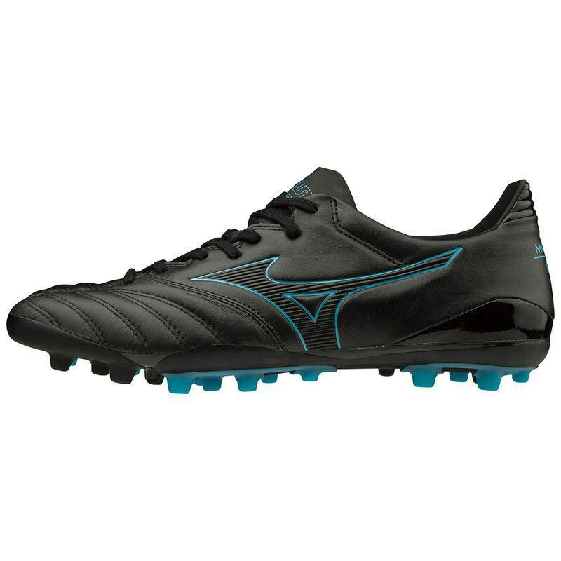 Mizuno Morelia Neo KL II AG Rugby Boots Black/BlueAtoll 2019