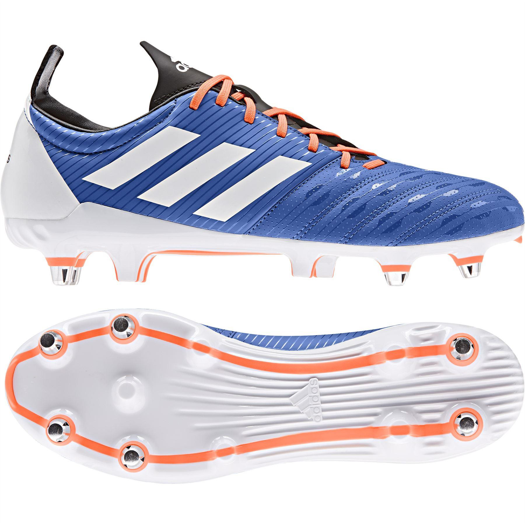 Adidas Malice SG Rugby Boots Blue/White/Solar Orange 2019