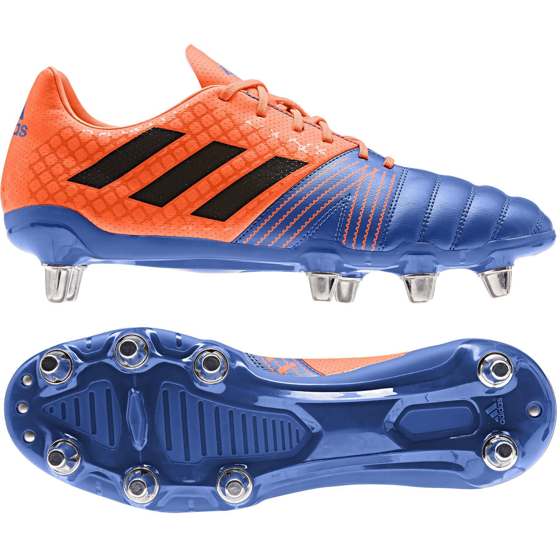 Adidas Kakari SG Rugby Boots Blue/Black/Solar Orange 2019