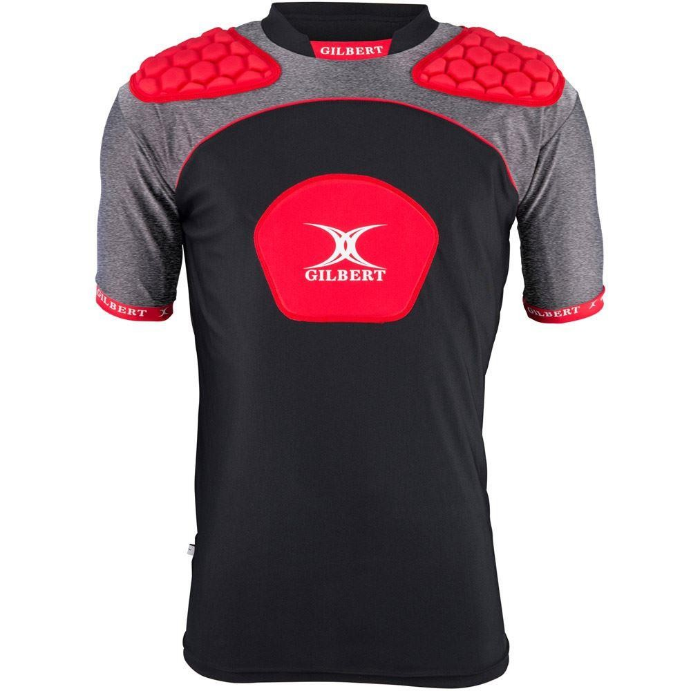 Gilbert Atomic V3 Junior Body Armour Black/Red 2018