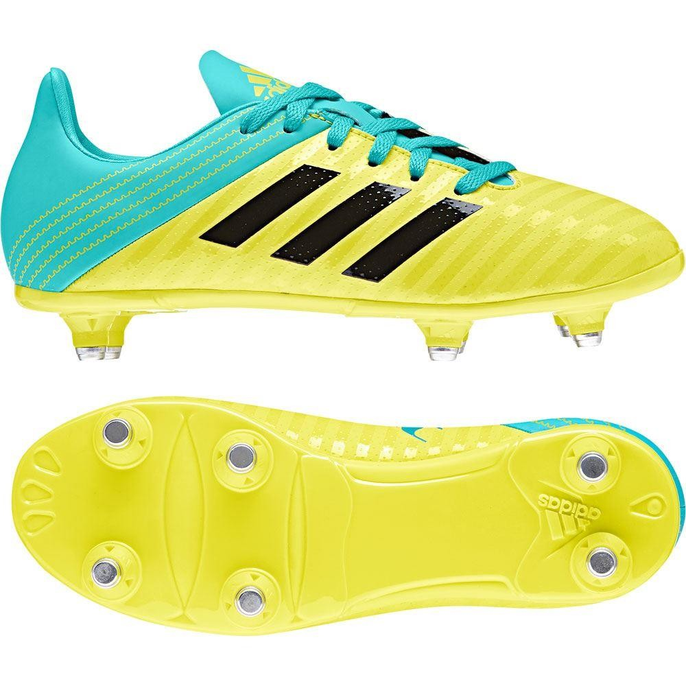 Adidas Malice Junior SG Rugby Boots Shock Yellow 2018
