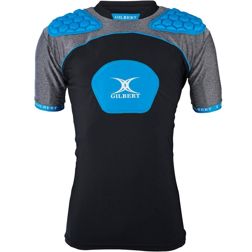 Gilbert Atomic V3 Junior Body Armour Black/Blue 2018