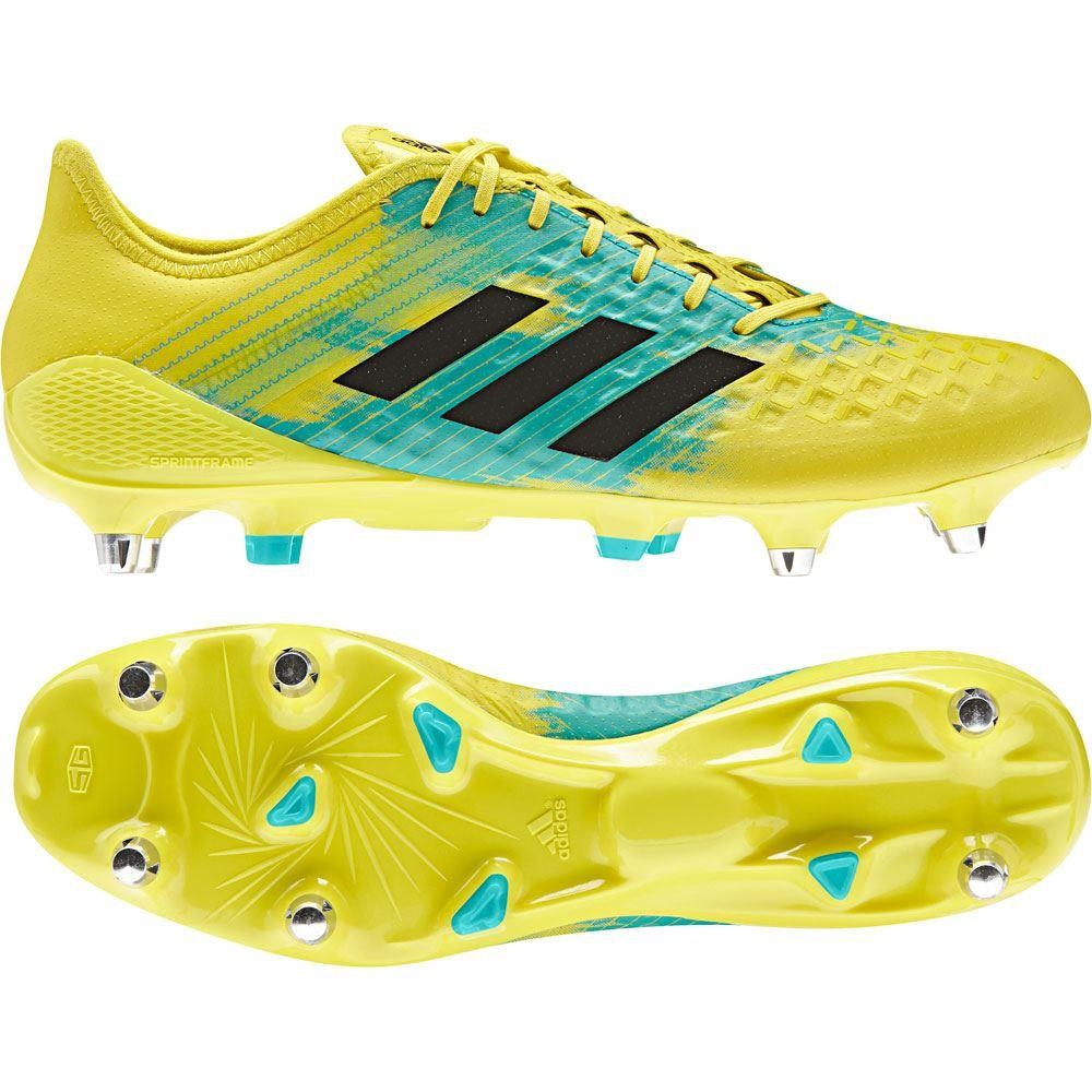 Adidas Predator Malice Control SG Rugby Boots Shock Yellow 2018