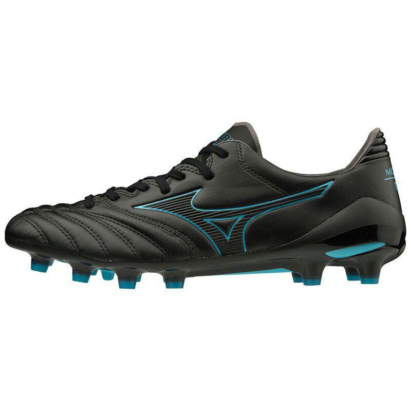 Mizuno Morelia Neo II Mix Rugby Boots Black/BlueAtoll 2019