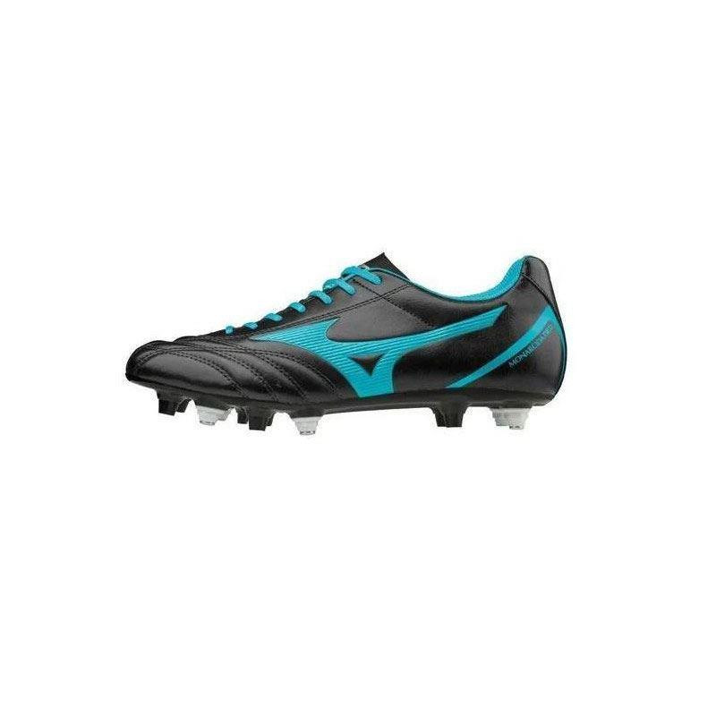 Mizuno Monarcida Neo Select Mix Rugby Boots Black/BlueAtoll 2019