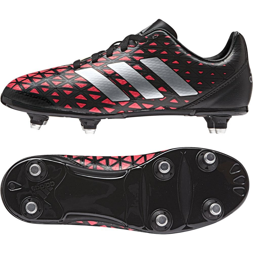 da4ea4e6e15a62 Adidas Kakari Soft Ground Junior Rugby Boots Core Black