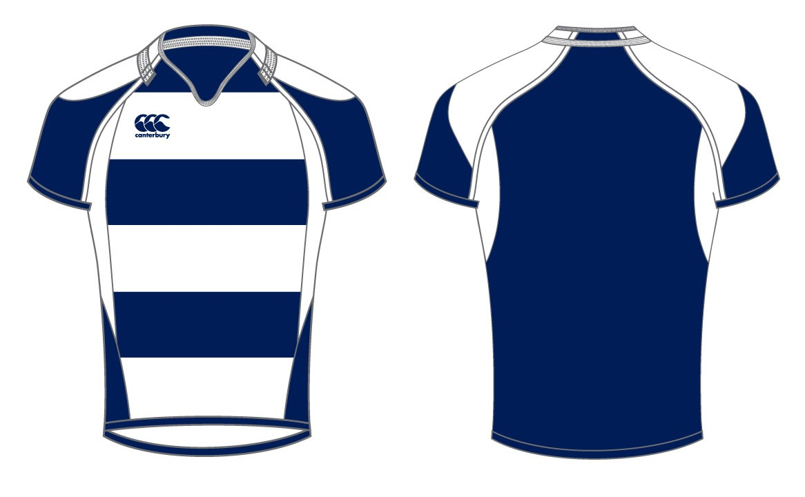 Canterbury Junior Hooped Challenge Rugby Shirt