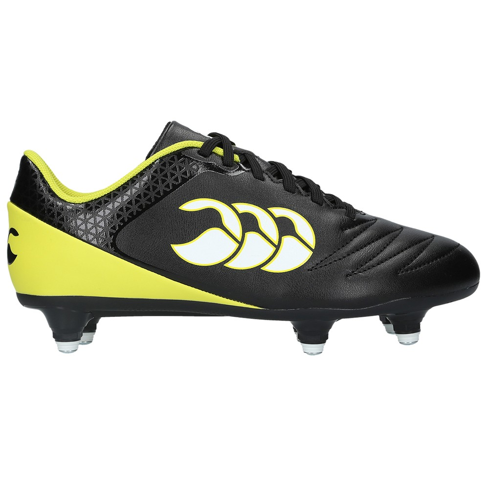Canterbury Stampede 2.0 SG Junior Rugby Boots 2017 Black/Sulphur Spring
