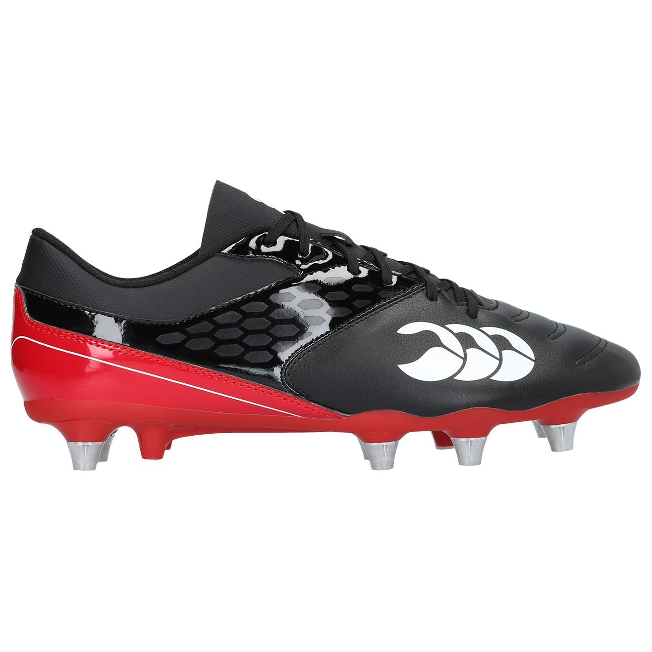 Canterbury Phoenix Raze SG Junior Rugby Boots 2017 Black/True Red