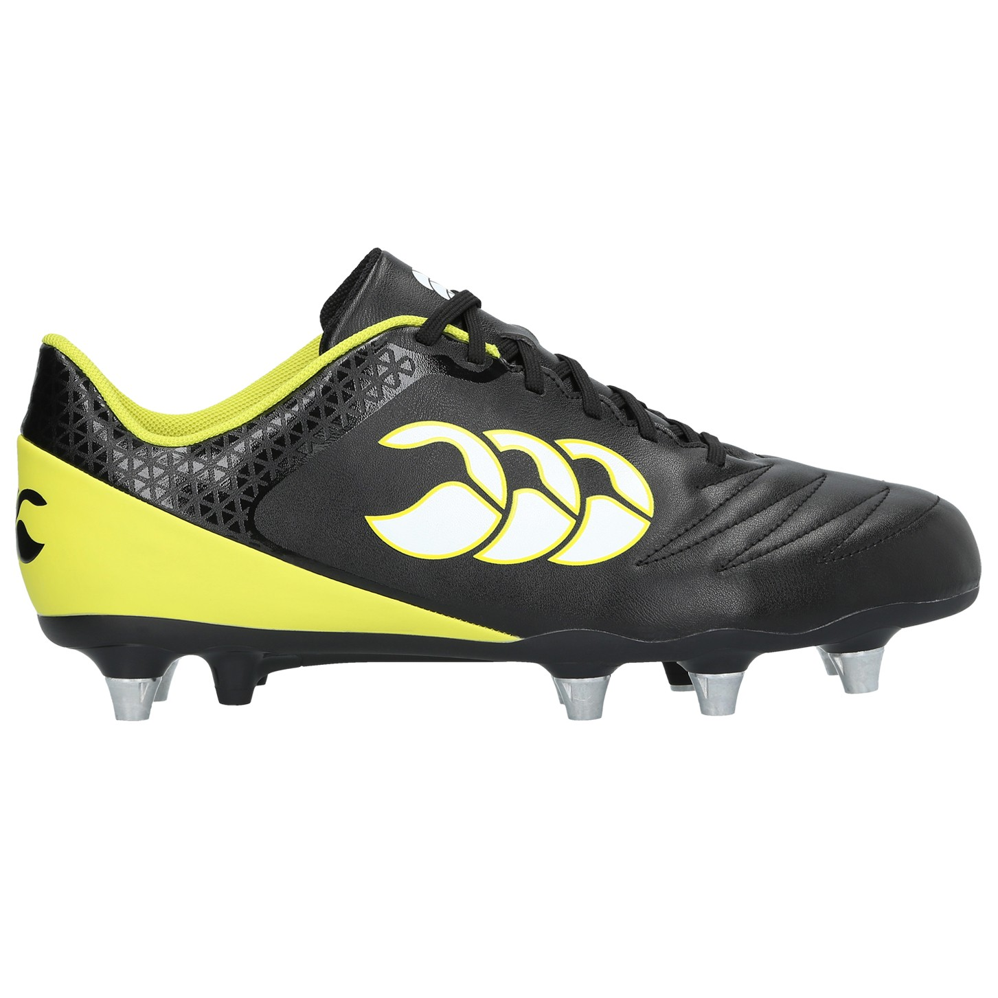 Canterbury Stampede 2.0 SG Rugby Boots 2017 Black/Sulphur Spring
