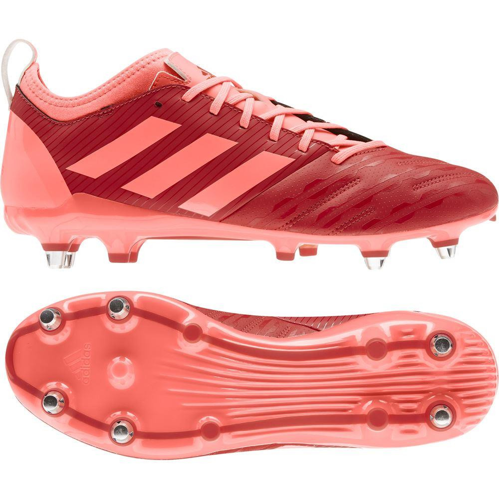 Adidas Malice Elite (SG) Rugby Boots Scarlett/Coral