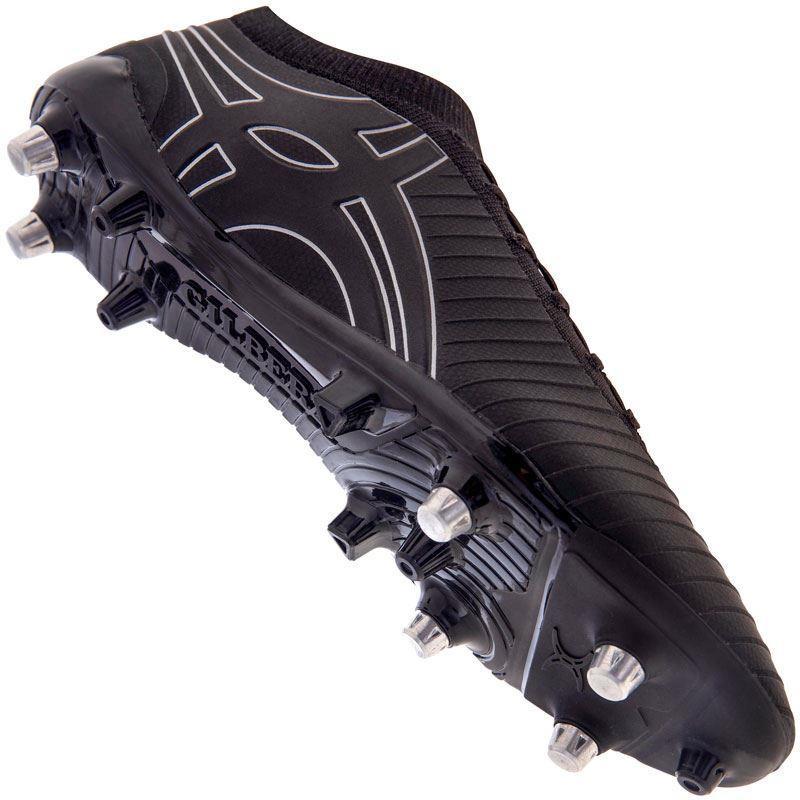 Gilbert Kaizen 1.0 Kn 6S Rugby Boot Black 2019