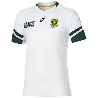 Asics South Africa Springboks RWC 2015 Replica Home S/S Rugby Shirt