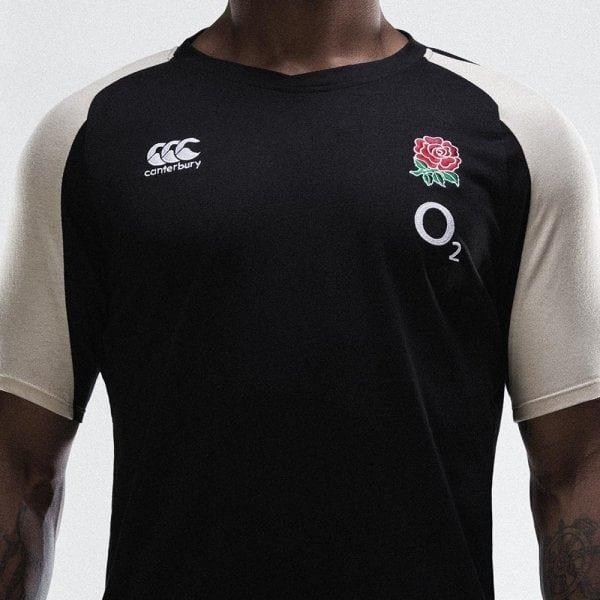 Canterbury England Vapodri Performance Cotton T-Shirt Anthracite 2018