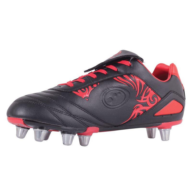 Optimum Razor Senior Rugby Boot Black/Red 2019