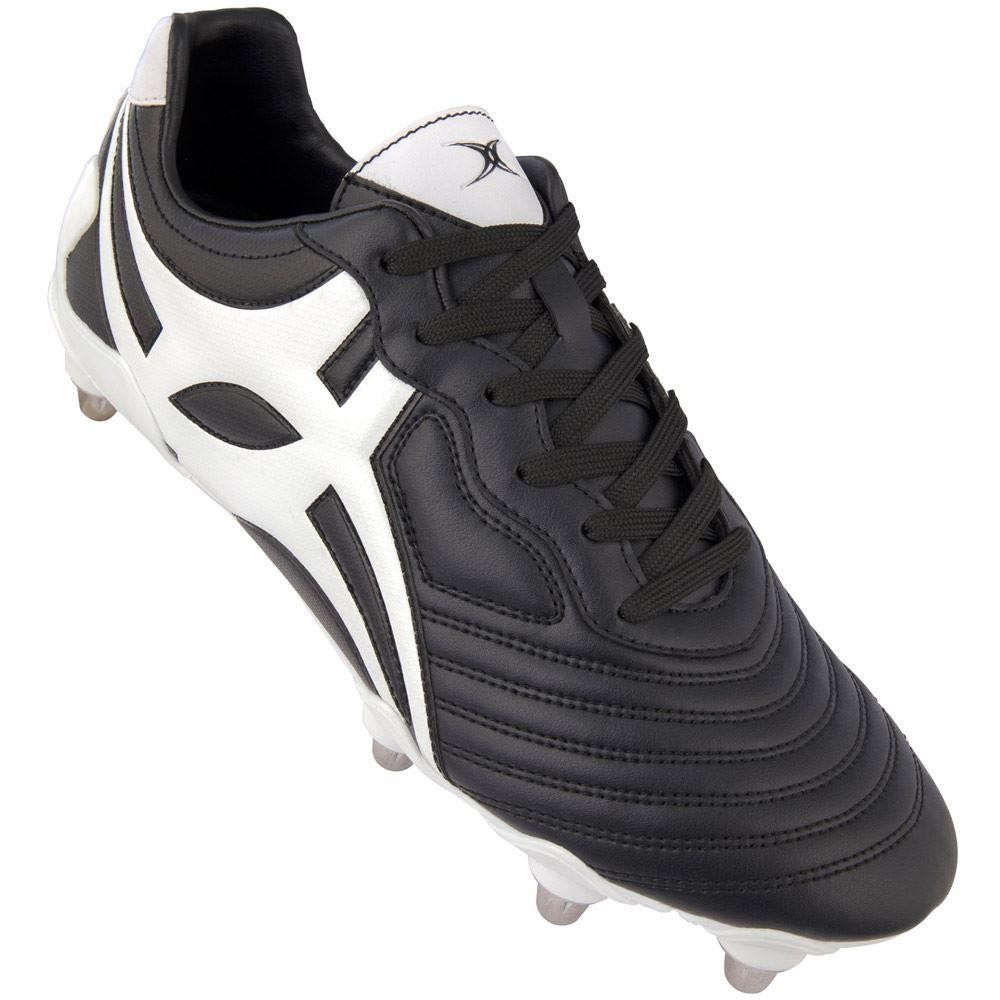 Gilbert Celera V3 LO 8S Black/White Rugby Boot 2018