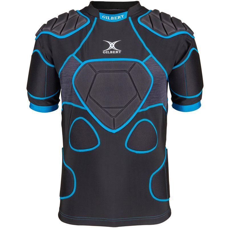 Gilbert XP 1000 Junior Body Armour Black/Blue 2019