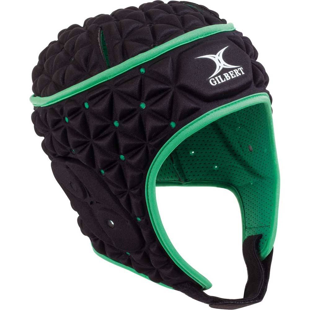 Gilbert Ignite Headguard Black/Green