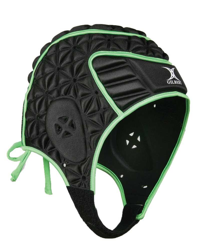 Gilbert Junior Evolution Headguard Black/Green