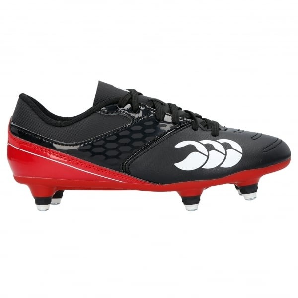 Canterbury Phoenix Raze SG Junior Rugby Boots 2017 Black/True Red