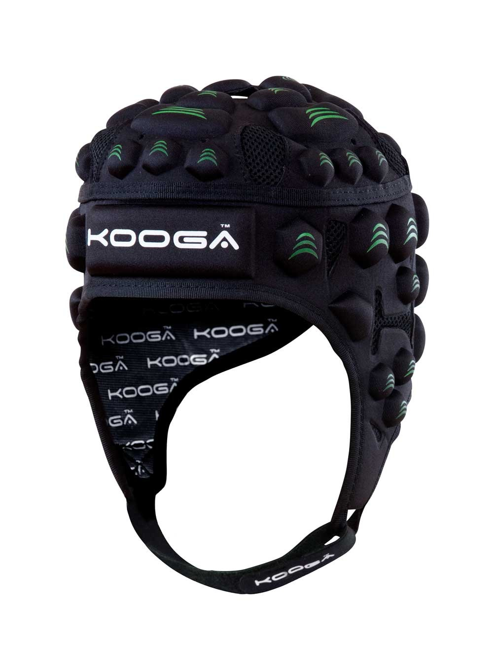 Kooga Junior Black/Green Essentials Headguard 2015