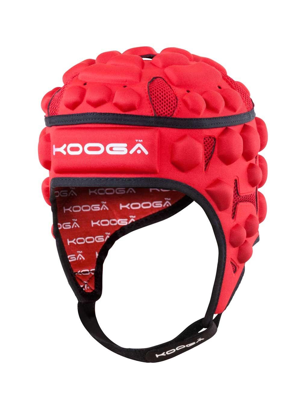 Kooga Junior Black/Red Essentials Headguard 2015