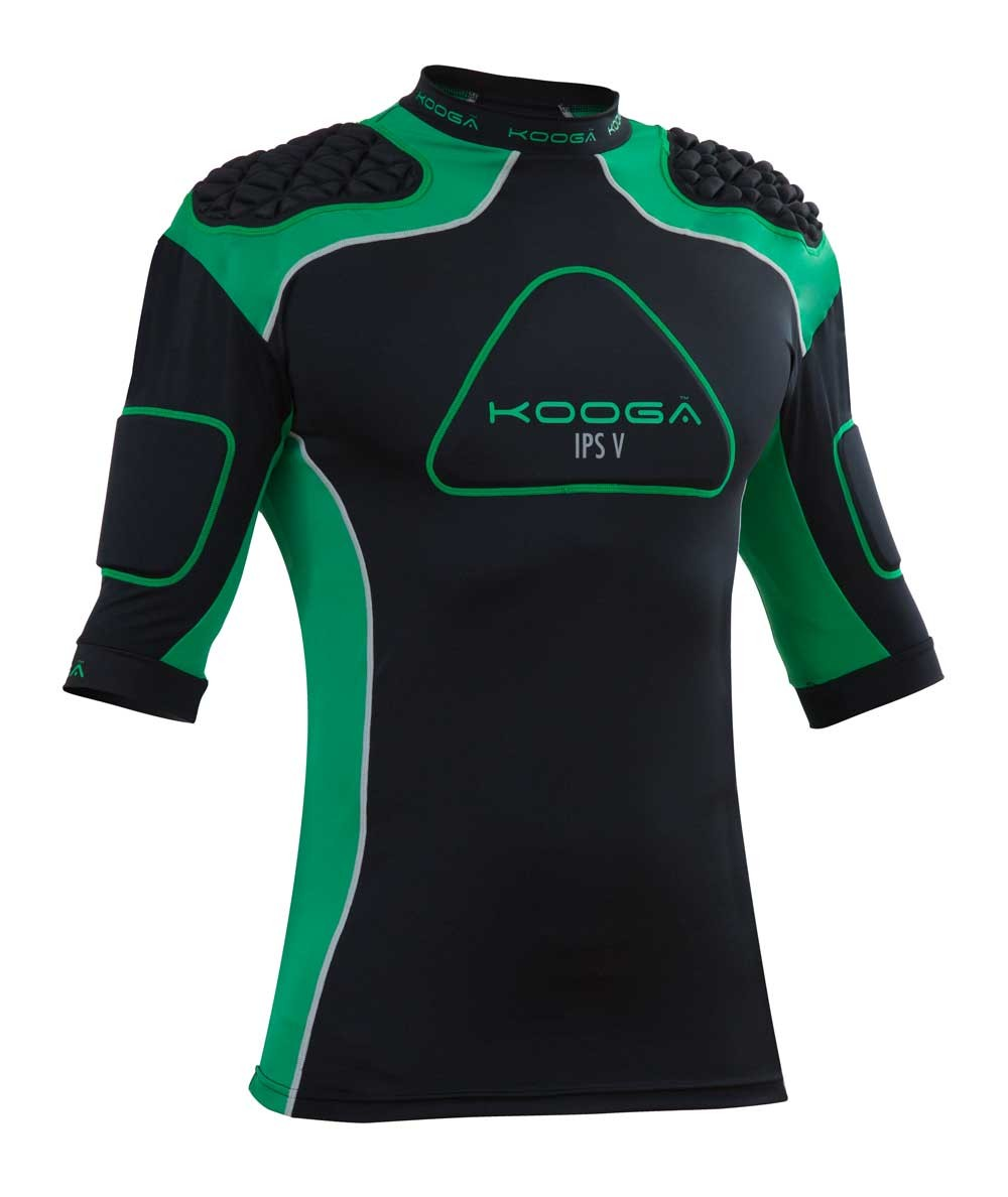 Kooga IPS Pro V Body Armour 2015 Black/Green
