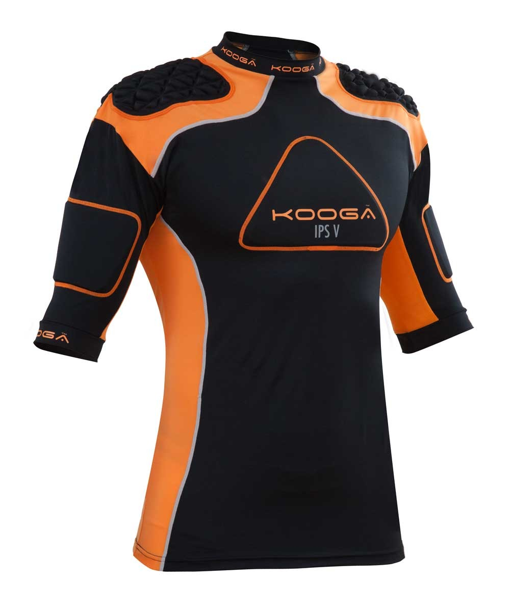 Kooga IPS Pro V Body Armour 2015 Black/Orange