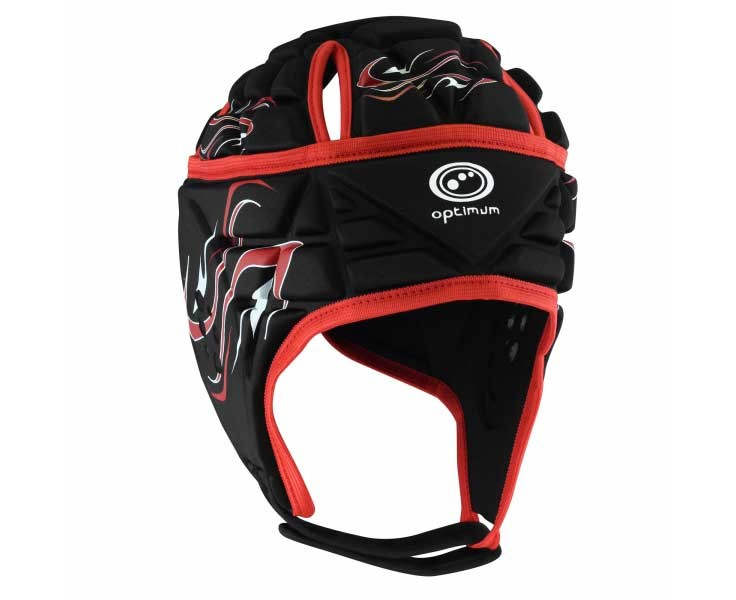 Optimum Inferno Headguard Black Red