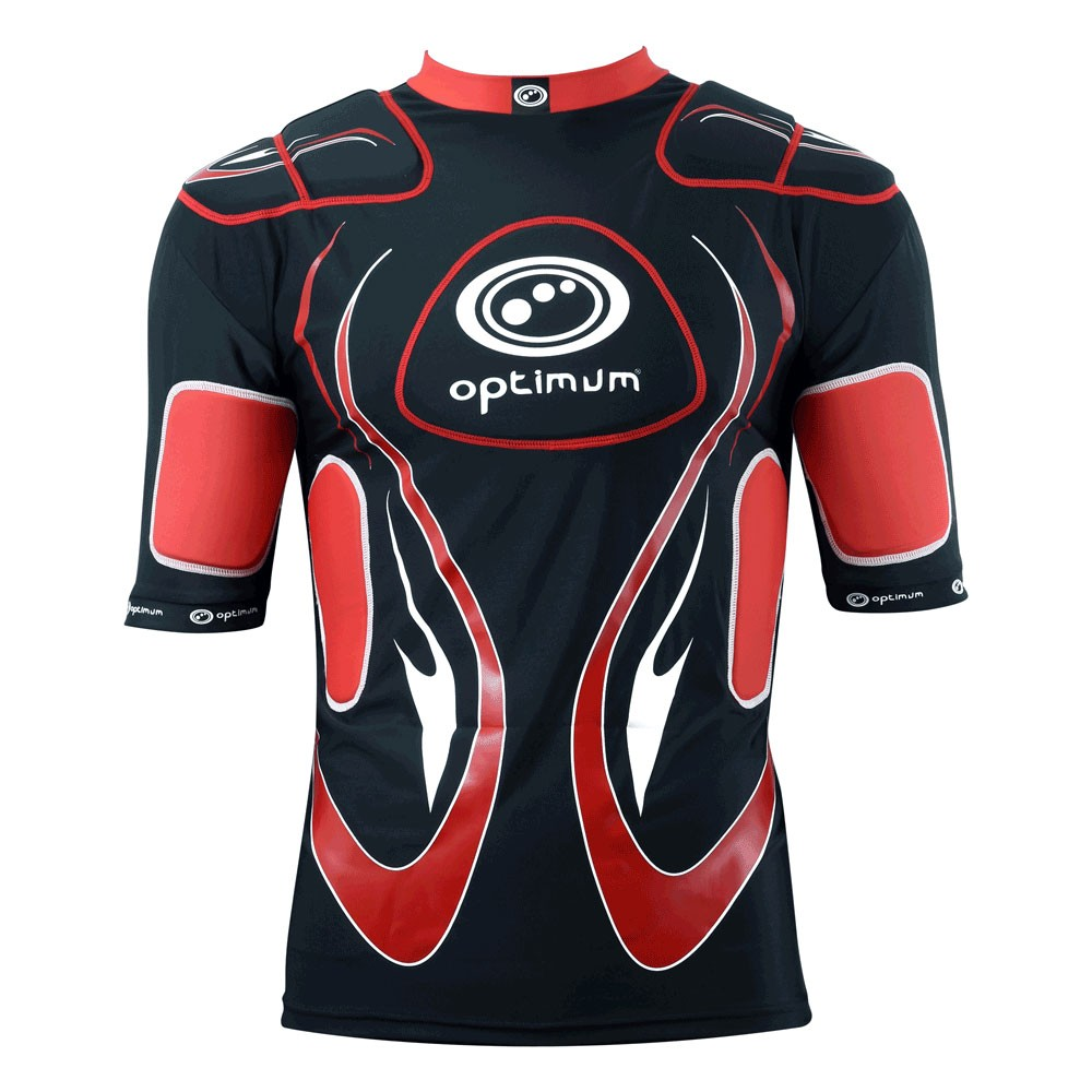 Optimum Junior Inferno Body Armour Black Red