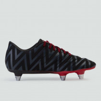 Canterbury Phoenix 2.0 SG Junior Rugby Boots Black/Flag Red 2019