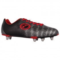 Optimum Viper Senior Rugby Boot Black/Red/Silver 2019