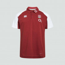 Canterbury England Vapodri Cotton Pique Polo Shirt Chili Pepper 2019