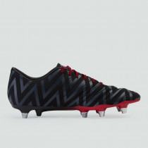 Canterbury Phoenix 2.0 SG Senior Rugby Boots Black/Flag Red 2019