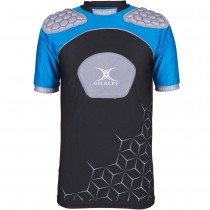 Gilbert Atomic V3 Junior Body Armour Black/Silver/Blue 2018