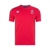 Canterbury RWC Cotton Jersey Tee AM Flag Red 2019