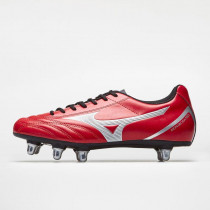 Mizuno Monarcida Neo S R SI Rugby Boots Chinese Red/Silver 2019
