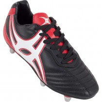 Gilbert Junior Sidestep XV Rugby Boots Black Red