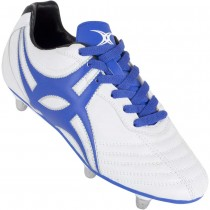 Gilbert Junior Sidestep XV Rugby Boots White Blue