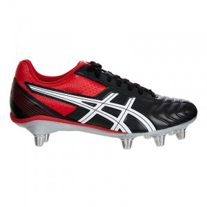 Asics Lethal Tackle Rugby Boots Black/Racing Red/White 2019