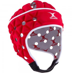 Gilbert AIR Junior Headguard Red 2018