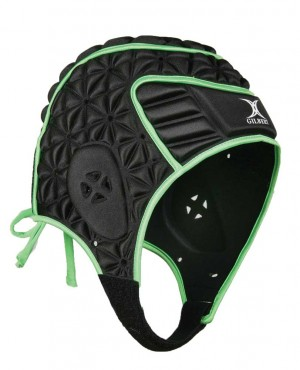 Gilbert Evolution Headguard Black/Green